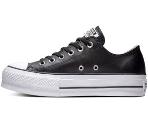 Converse Chuck Taylor All Star Lift Clean Leather Ox W black/black ...
