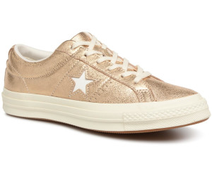 7ea9e2fe2e7d60 Buy Converse One Star Metallic Leather Ox gold egret egret (161589C ...