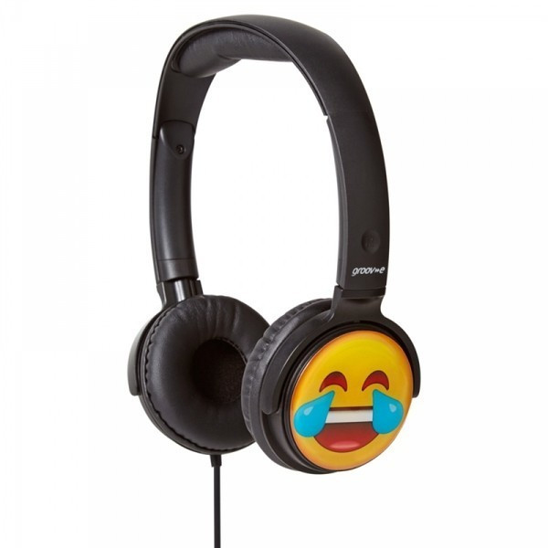 Image of Groov-e EarMoji Cry Laughing Headphones