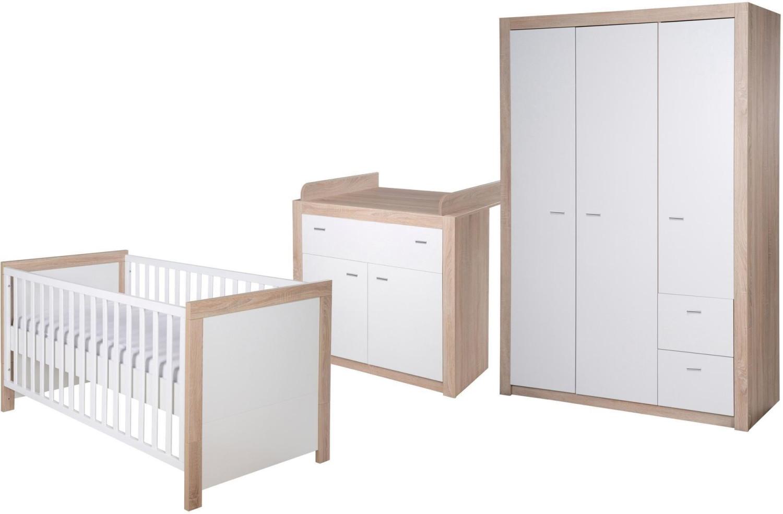 Roba Kinderzimmer Leni 2 (3-tlg) mit 3-türigem Schrank
