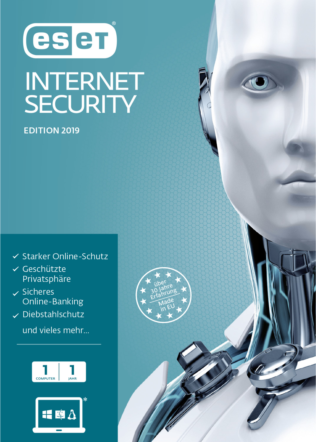 Image of ESET Internet Security 2019 (1 Device) (1 Year) (FFP)