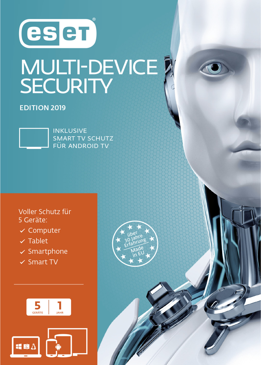 Image of ESET Multi-Device Security 2019 (5 Devices) (1 Year) (FFP)