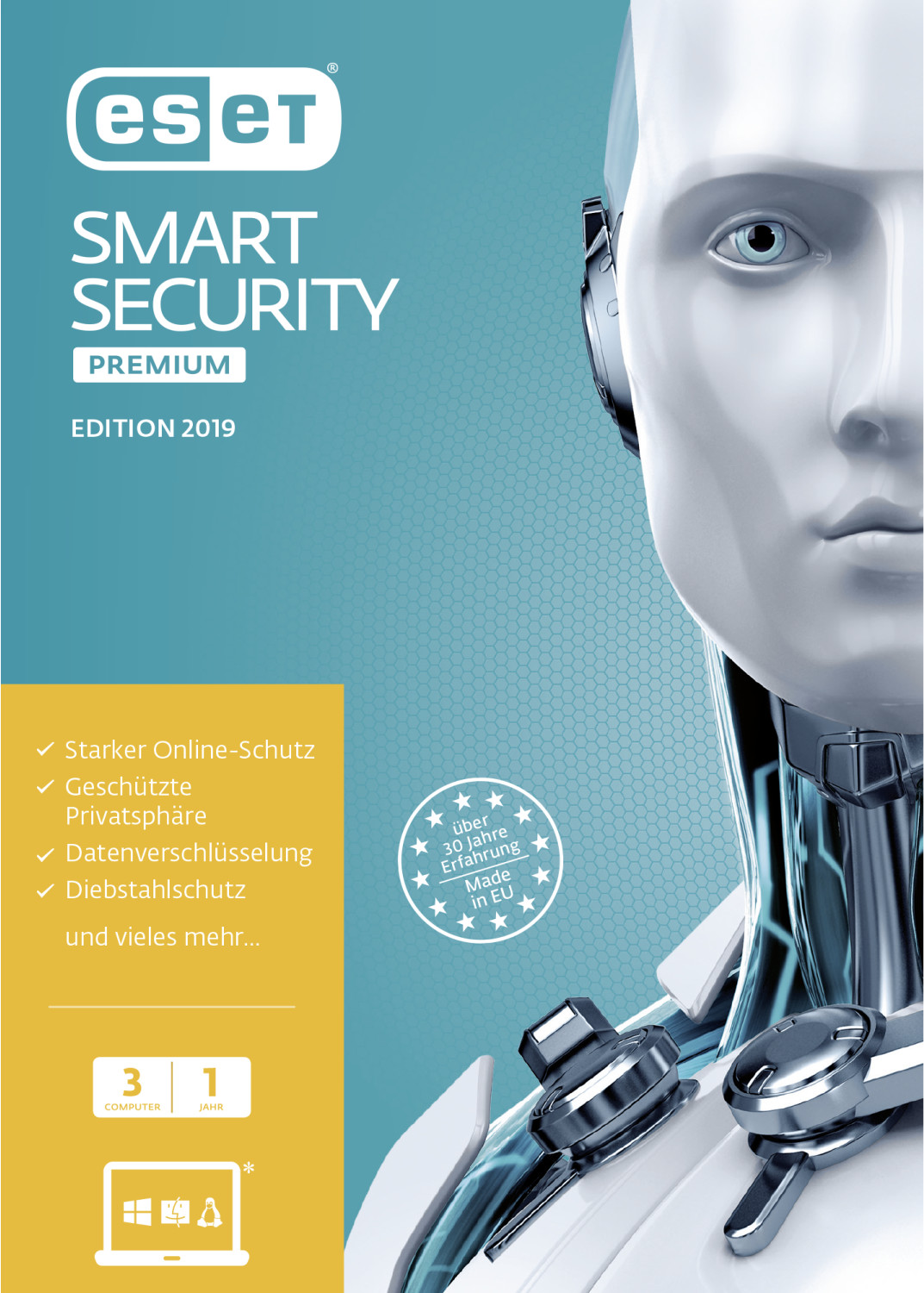 Image of ESET Smart Security Premium 2019 (3 Devices) (1 Year)