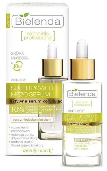 Bielenda Skin Clininc Professional Super Power Mezo Actively Correcting ANTI-AGE Day/Night Serum (30ml)