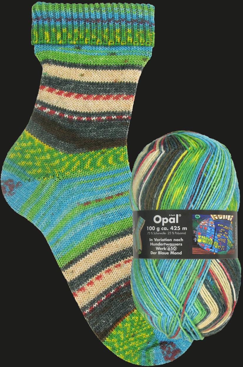 Opal Nach Hundertwasser-Werk 650 Der Blaue Mond