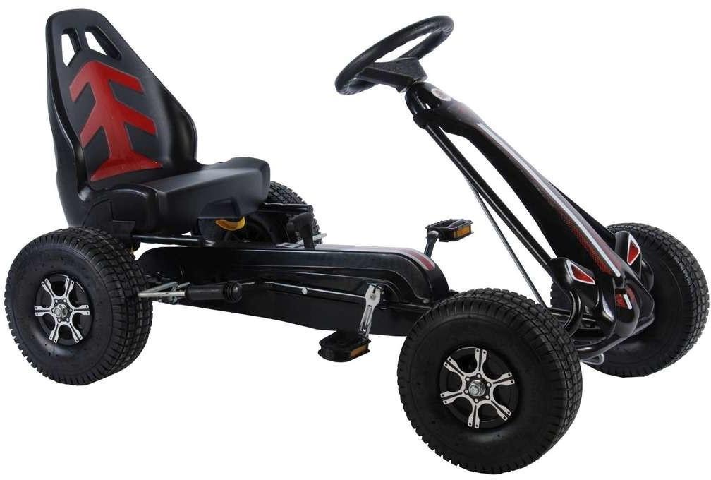 Volare Kinder Go-Kart Racing Car schwarz