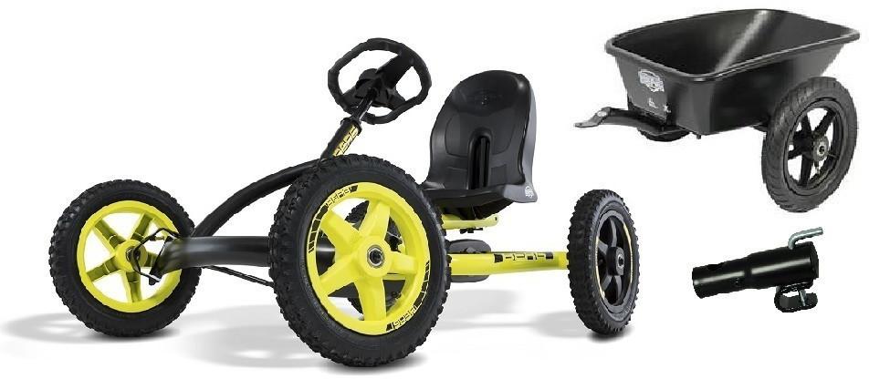 Berg Pedal Go-Kart Buddy Cross mit Anhänger 0228