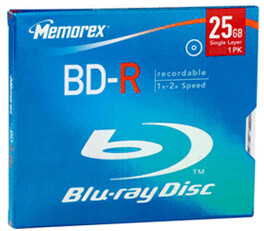 Image of Memorex BD-R 25GB 135min 4x 1pk Jewel Case