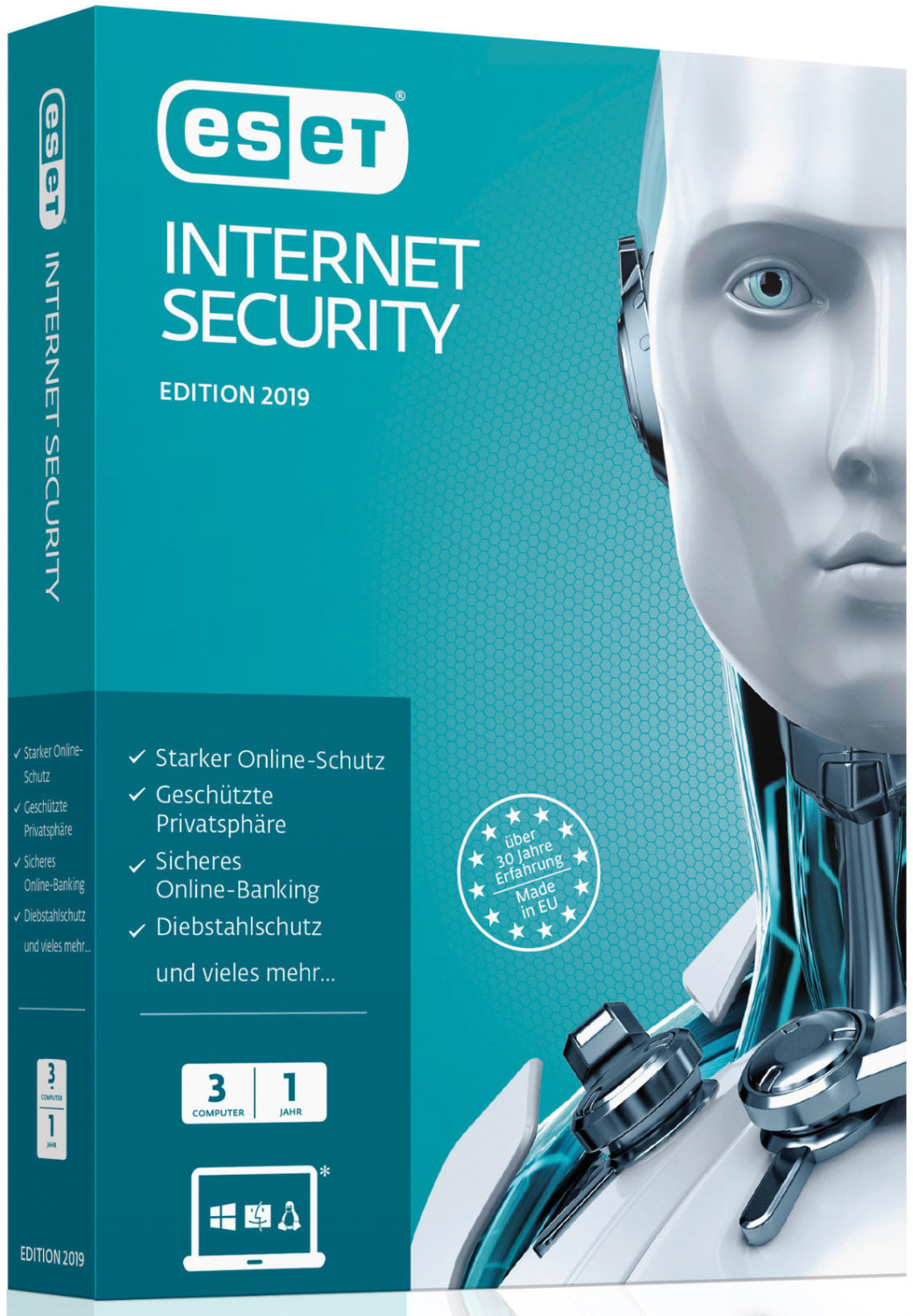 Image of ESET Internet Security 2019 (3 Devices) (1 Year) (PKC)