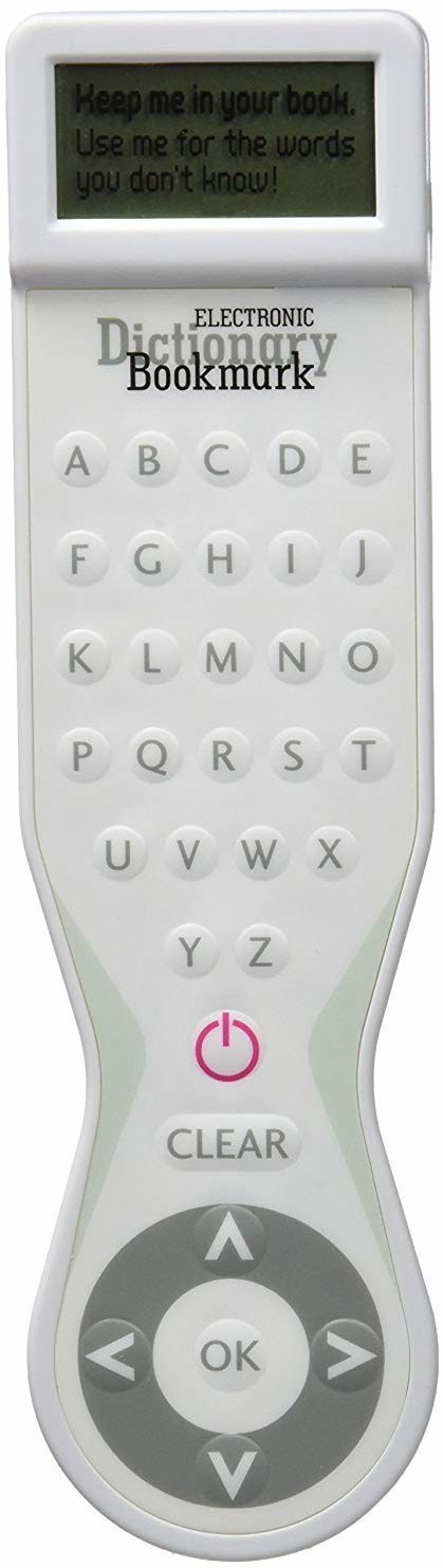 IF Electronic Dictionary Bookmark White