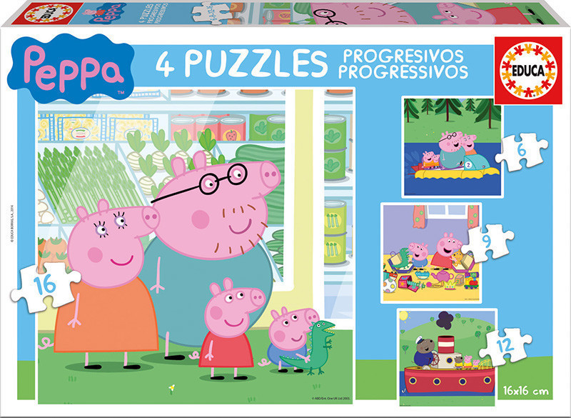 Peppa Pig Puzzles Progresivos