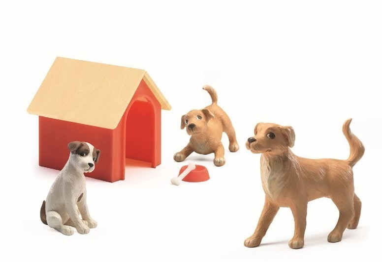 Djeco Hunde mit Hundehütte (07818)