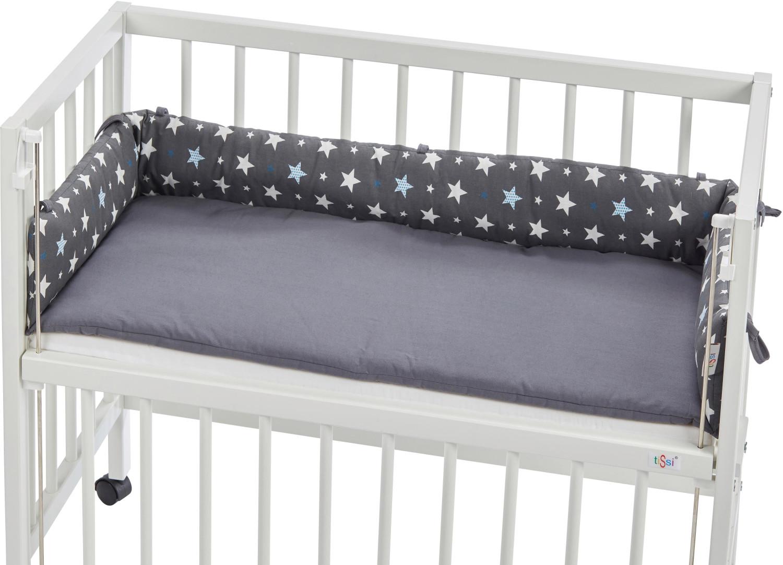 tiSsi Nestchen für Beistellbett Sterne grau
