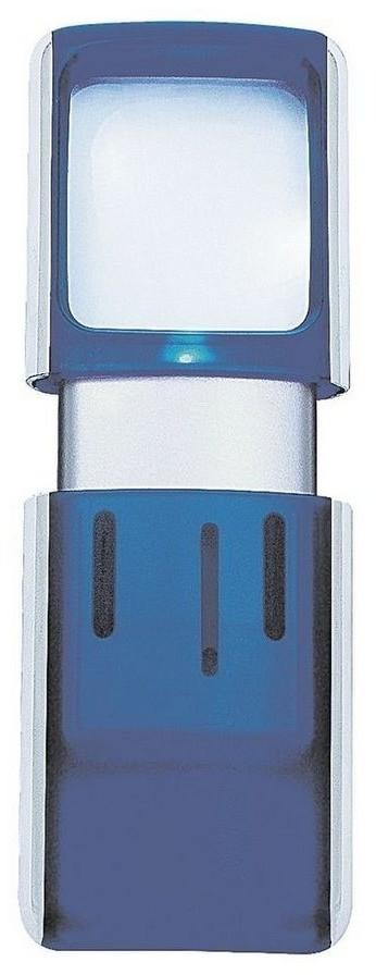 Wedo Lupe eckig beleuchtet 3x blau