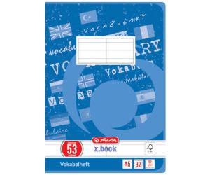 3V DIN A4 16 Blatt 1 Stück Oxford Vokabelheft Lineatur