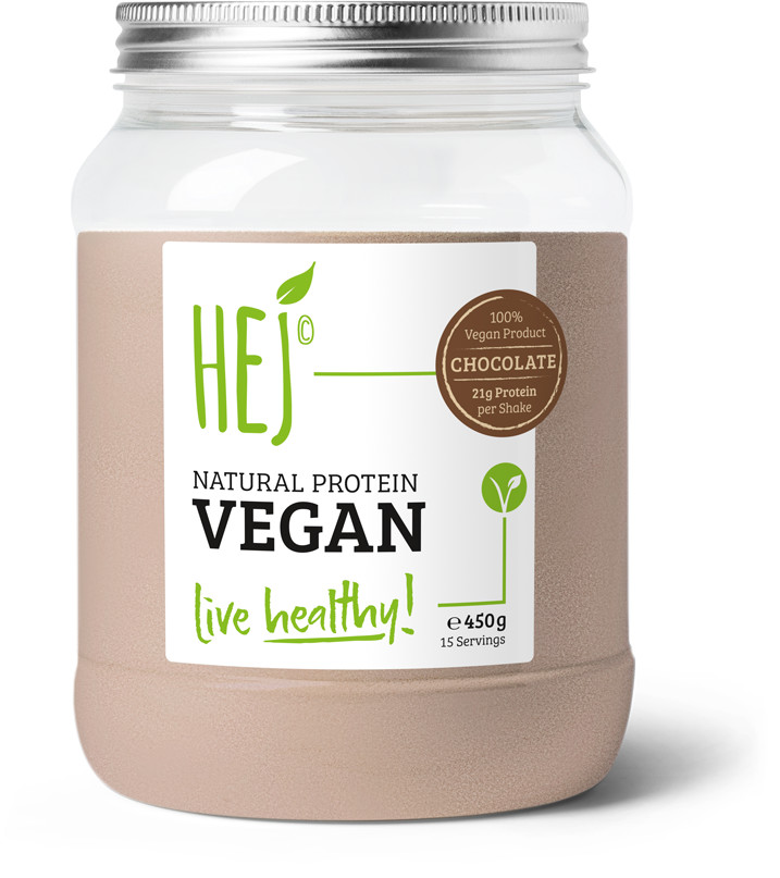 Hej Natural Protein Vegan Chocolate 450g