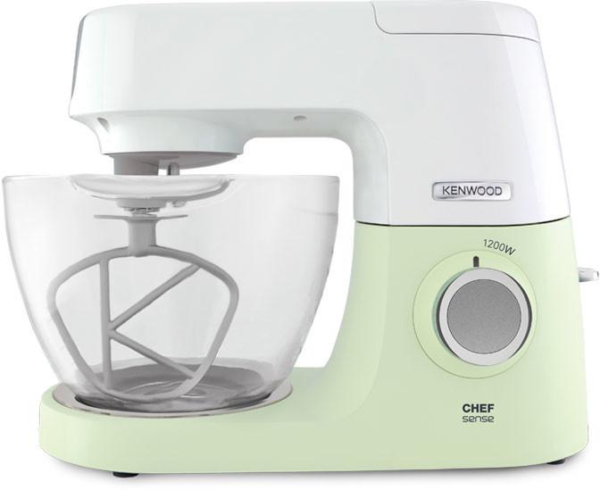 Kenwood KVC 5100 - Robot de cocina (4,6 L, Verde, Blanco, Vidrio, 1200 W, 295 mm, 390 mm)