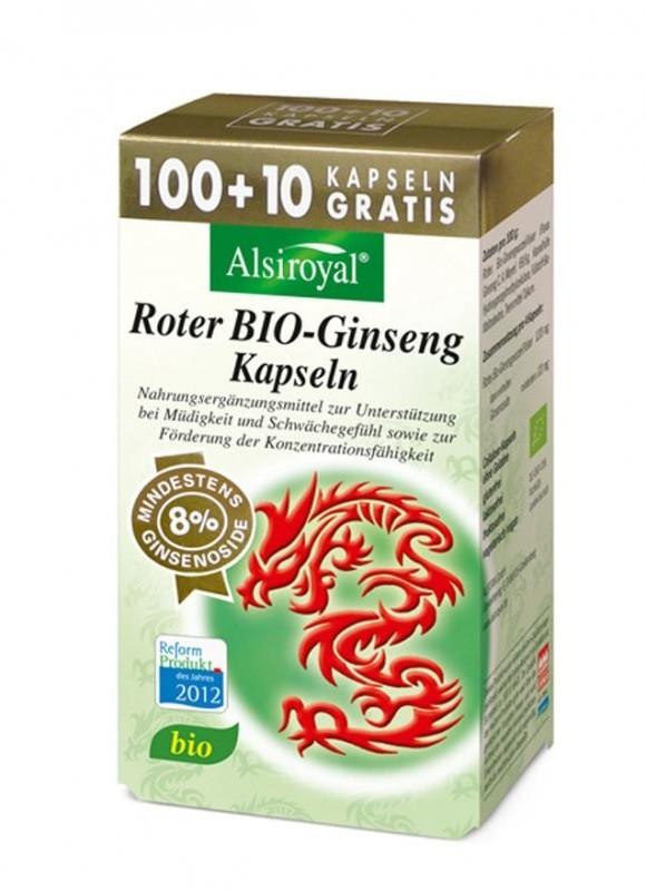Alsitan Alsiroyal Roter BIO-Ginseng Kapseln (100 Stk.)