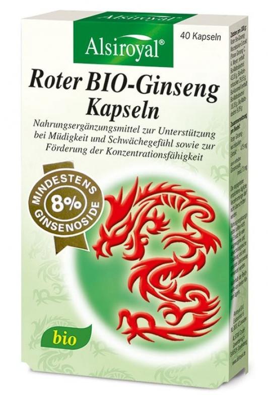 Alsitan Alsiroyal Roter BIO-Ginseng Kapseln (40 Stk.)