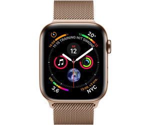 Buy Apple Watch Series 4 Gps Cellular 44mm Gold Stainless Steel Milanese Loop Gold From 757 09 Today Best Deals On Idealo Co Uk