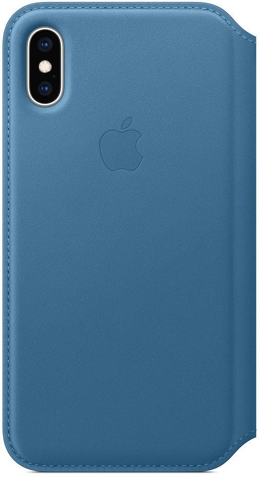 Apple Leder Folio (iPhone Xs) Cape Cod Blau