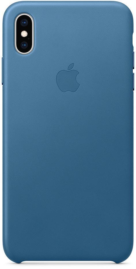 Apple Leder Case (iPhone Xs Max) Cape Cod Blau