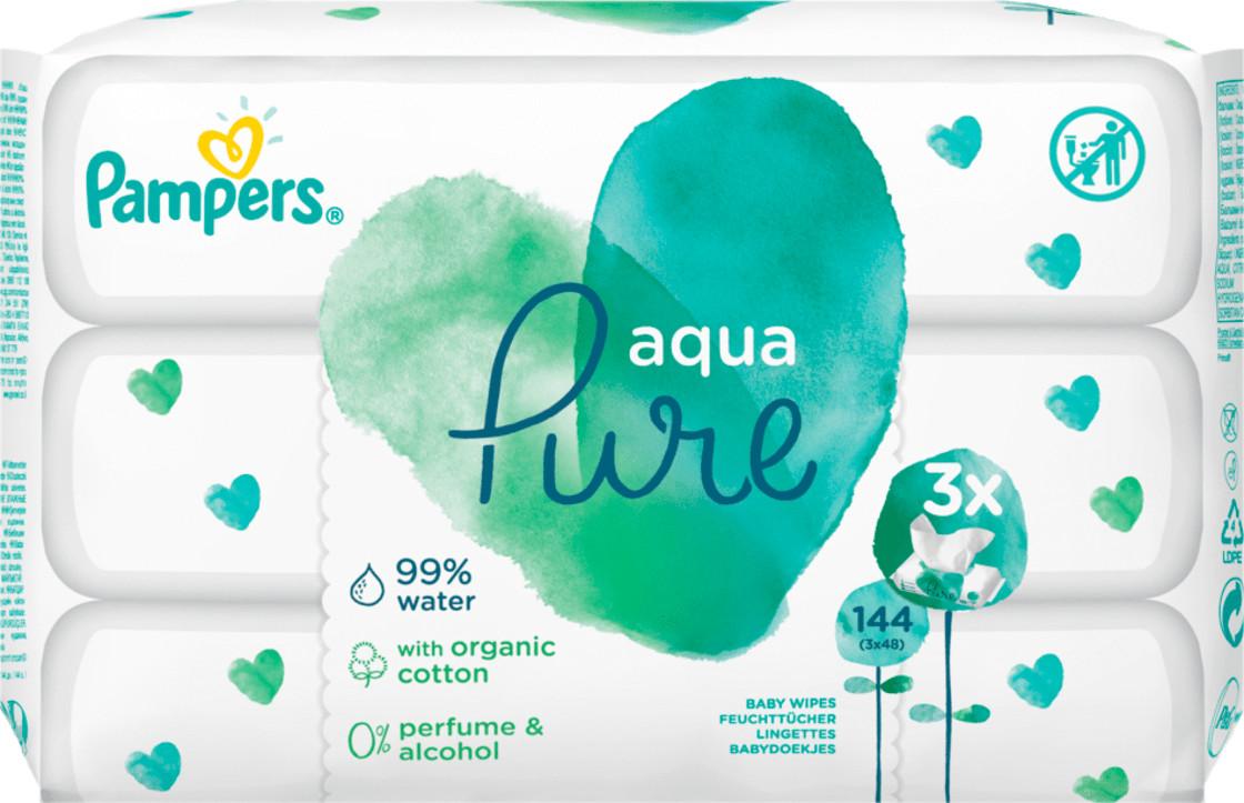 Pampers Aqua Pure Feuchttücher (3 x 48 Stk.)