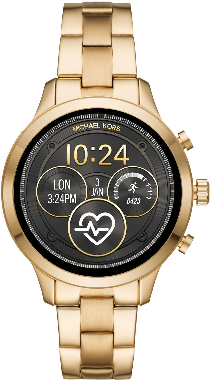 Michael Kors Damen Digital Smart Watch Armbanduhr Mit Edelstahl Armband Mkt5045