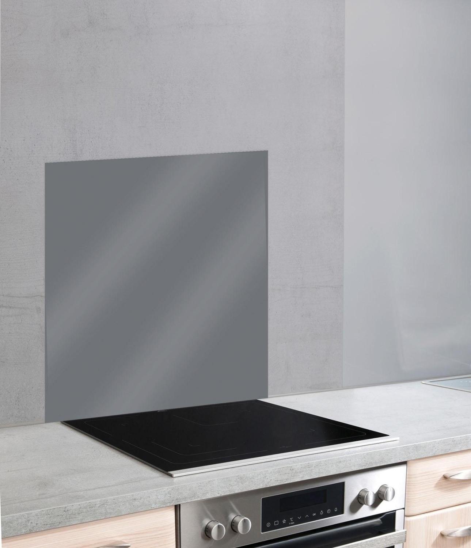 Wenko Glasrückwand 60 x 70 cm Grau