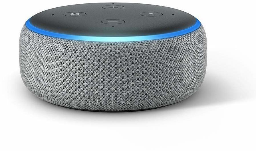 Amazon Echo Dot (3rd Generation) Heather Grey Fabric