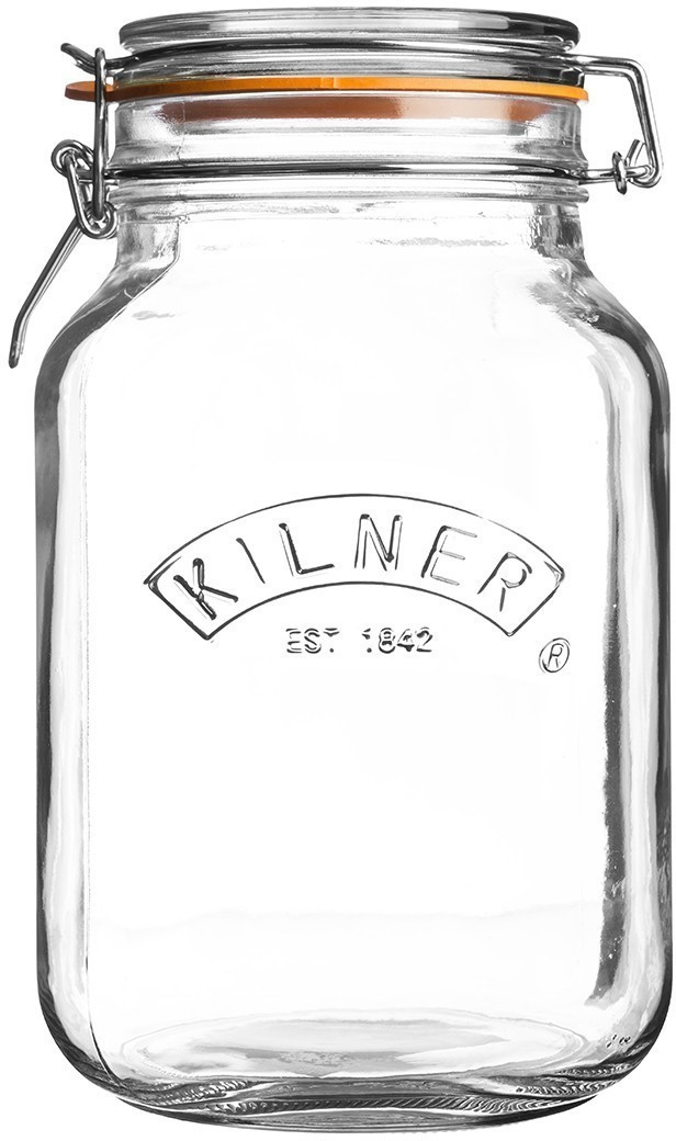 Image of Kilner Clip Top Square Jar 2000 ml
