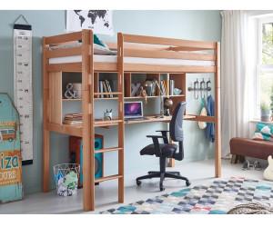 Etagenbett Schreibtisch : Relita hochbett schreibtisch regal natur 90x200cm ab 599 90