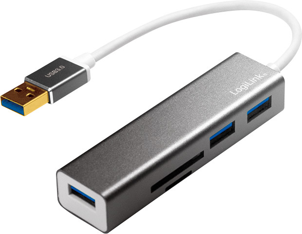 LogiLink 3 Port USB 3.0 Hub/Cardreader (UA0306)