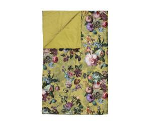 ESSENZA Plaid Wohndecke Fleur Burgund Sofadecke Blumen Blüten Rosen 135x170 cm