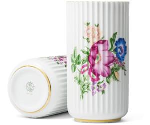 Lyngby Porcelæn Vase Porzellan 20cm Blumendekor
