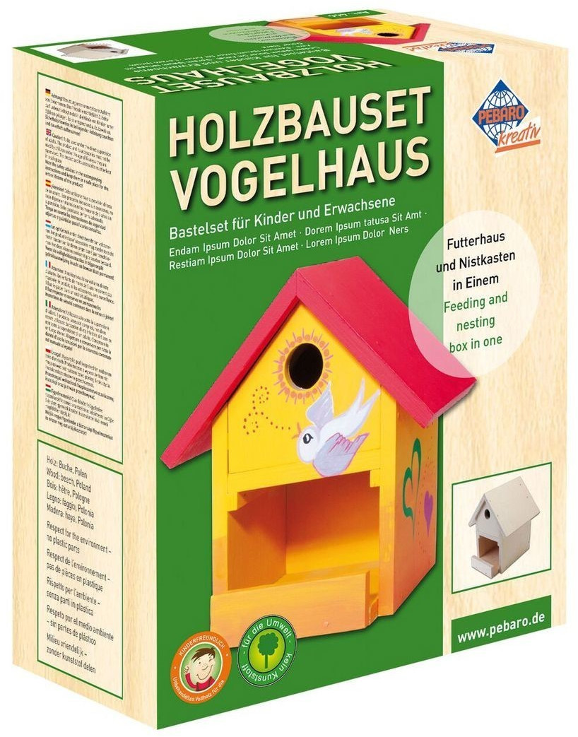 Pebaro Holzbauset Vogelhaus Birke