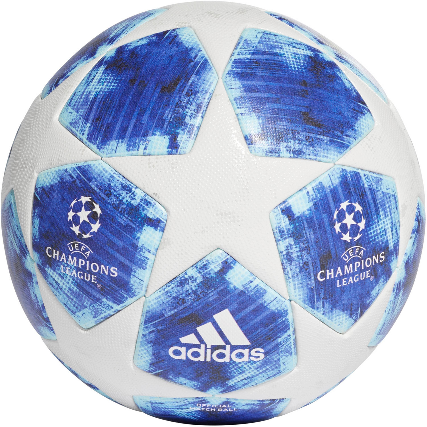 Adidas UEFA Champions League UCL Final football white / football blue / bright cyan colligate royal