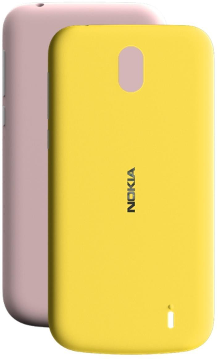 Nokia X-Press on Cover Dual Pack (Nokia 1) pink & yellow