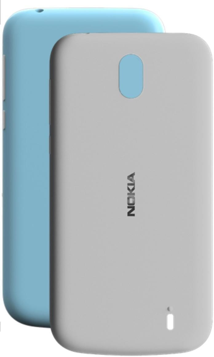 Image of Nokia X-Press on Cover Dual Pack (Nokia 1) azure & grey