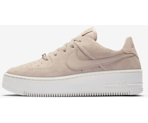 nike air force 1 nere camoscio