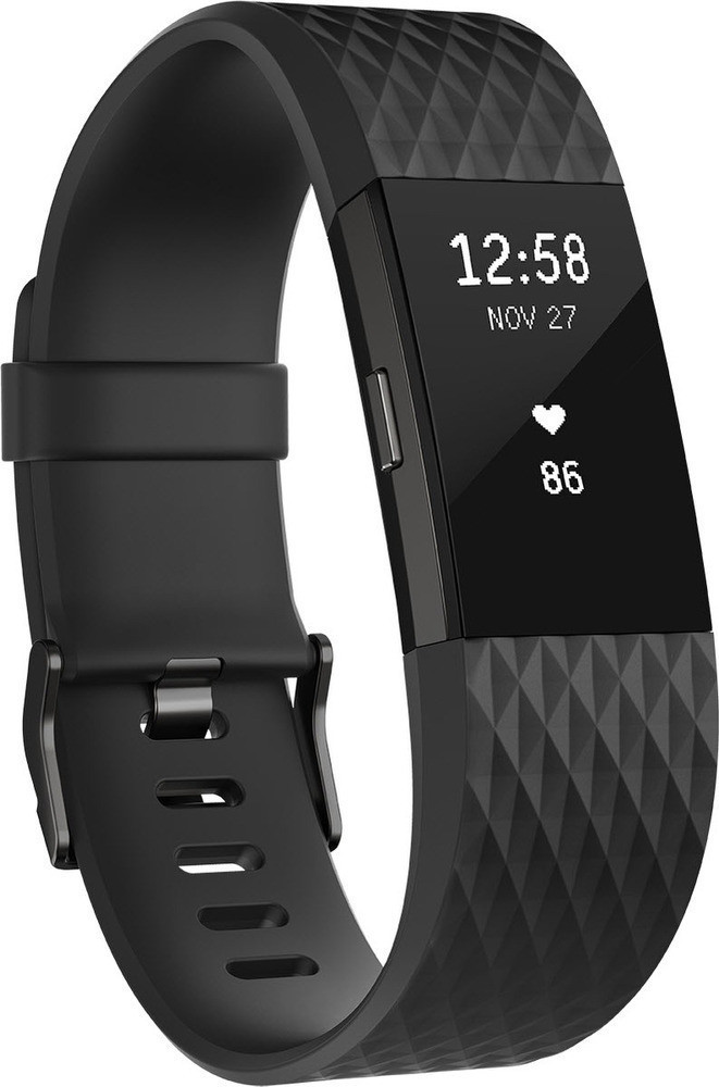 Charge 2 Wristband activity tracker Antracita, Negro OLED Inalámbrico, Fitnesstracker
