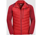 Jack Wolfskin Skyland Crossing Men Hybrid-Jacket black fiery red a5cf1fef04