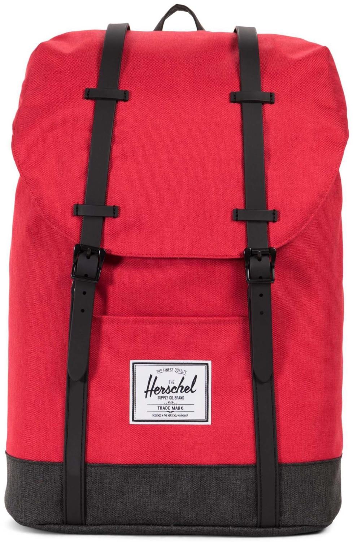 Herschel Retreat Backpack barbados cherry crosshatch/black crosshatch/black rubber