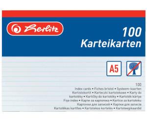Herlitz Karteikarten DIN A6 liniert orange 100 Karten