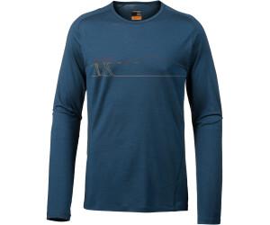 Icebreaker Men/'s 200 Oasis Deluxe Raglan L//S Crewe Shirt Ski Prussian Blue M