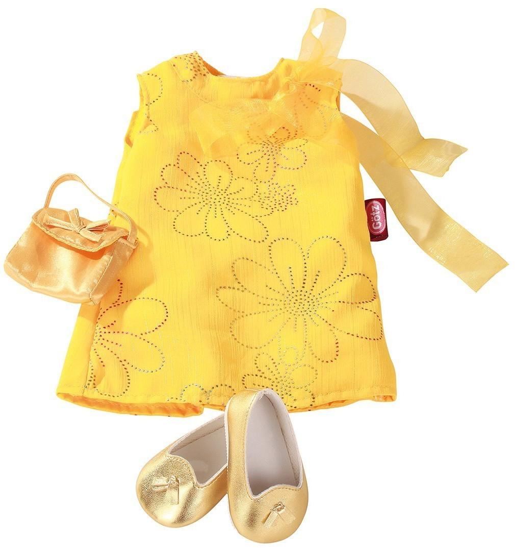 Götz Puppenkleidung Kleid golden girl 3-teilig