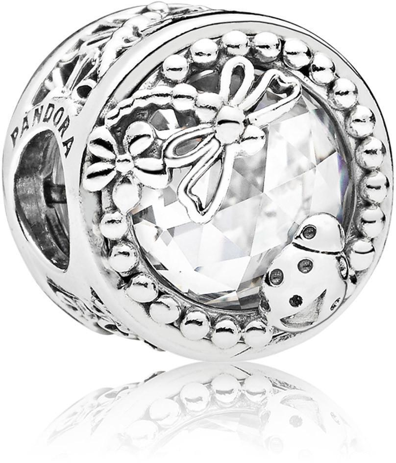 PANDORA Charm Element 797047 CZ Ladybug Silber Bead