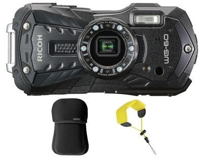 Ricoh WG-60 with Case + Floating Strap black