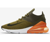 separation shoes 8567b ee9d6 Nike Air Max 270 Flyknit olive flak cargo khaki total orange black