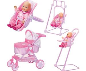 Rosa-Lila Babypuppen & Zubehör Zapf Creation Baby Born Puppenwagen Evolve Travel System 6in1 Puppen & Zubehör